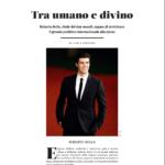 Roberto Bolle Ilaria Rebecchi cover story SEI magazine