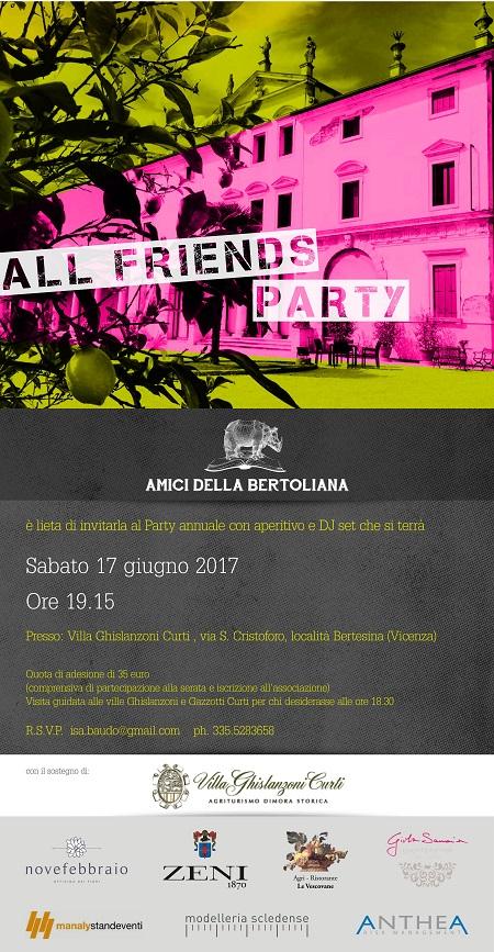 Amici della Bertoliana All Friends Party social media comunicazione 2017 biblioteca bertoliana